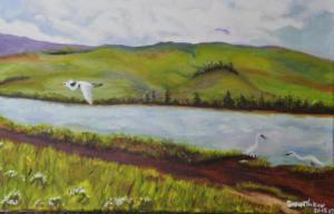 Egrets at Tomales Bay
